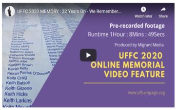 UFFC 2020 Online Memorial Video Feature